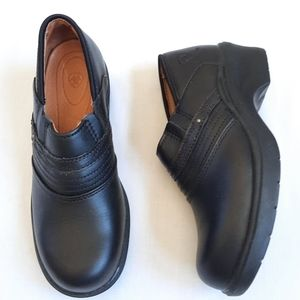 Ariat Steel Toe Dafty Clog Shoes Black Leather 7.5